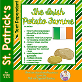 Potato Famine Informational Text with Comprehension Activities St. Patrick's Day