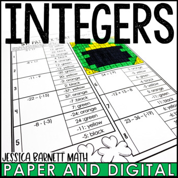 St. Patrick's Day Math Activity: Integer Review