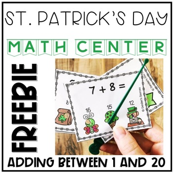 St. Patrick's Day Interactive Addition Task Cards