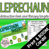 St. Patrick's Day Interactive Book and Therapy Targets! DI