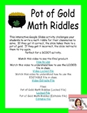St. Patrick's Day Interactive Google Slide Math Riddle Act