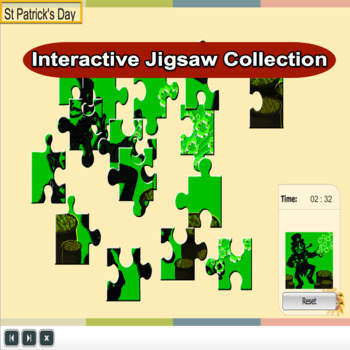St Patrick's Day Interactive Jigsaw Collection Grade 1 - 4