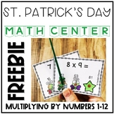 St. Patrick's Day Interactive Multiplication Task Cards