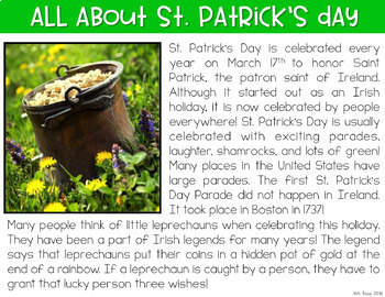 St. Patrick's Day Digital Activities