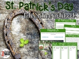 St. Patrick's Day Interactive Notebook close read