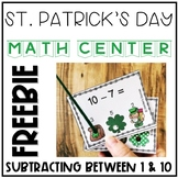 St. Patrick's Day Interactive Subtraction Task Cards