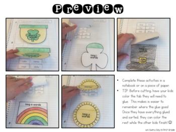 St. Patrick's Day Interactive Vowel Sorts! {CVC & CVCe}