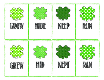 St. Patrick's Day Irregular Verb Sort