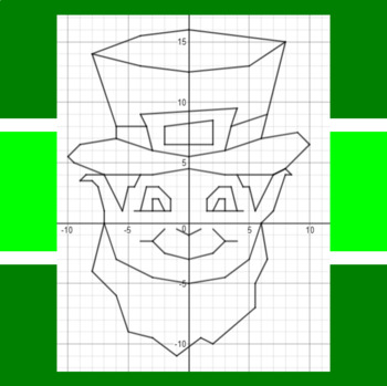 St. Patrick's Day - It's a Leprechaun - Math-Then-Graph - Solve 30 Systems
