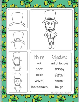 St. Patrick's Day Journal Prompts and Directed Drawing FREE