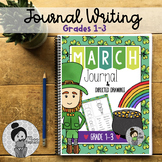 March Journal Prompts and Directed Drawings St. Patricks Day Spring NO PREP