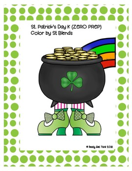 St. Patrick's Day K (ZERO PREP) Color by S Blends