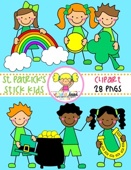 St. Patrick's Day {Kids Clipart}