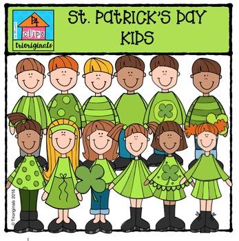 St. Patrick's Day Kids {P4 Clips Trioriginals Digital Clip Art}
