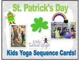 St. Patrick's Day Kids Yoga Sequence--Real Photos +Printab