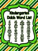 St. Patrick's Day Kindergarten Dolch Sight Word Flashcards