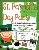 St. Patrick's Day Kindergarten, First Grade ELA & Social Studies Integration