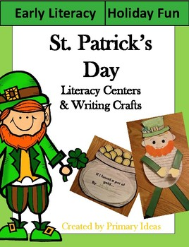St. Patrick's Day Kindergarten Literacy Centers and Writing Craft
