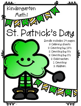 St. Patrick's Day Kindergarten Math Bundle