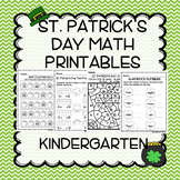 St. Patrick's Day Kindergarten Math No Prep 0