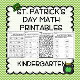 St. Patrick's Day Kindergarten Math No Prep 0