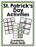 St. Patrick's Day Kindergarten Math and Literacy Activities