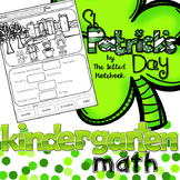 St Patrick's Day Kindergarten Math no prep blackline