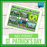 No Print St. Patrick's Day Language & Articulation Games