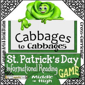 St. Patrick's Day Language Arts Informational Reading Game Middle & High School