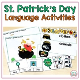 St. Patrick's Day Language Building Yes or No, Prepositions, Antonyms Categories