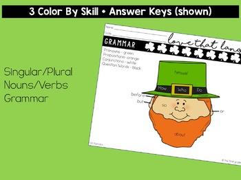St. Patrick's Day Language & Grammar Worksheets