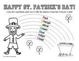 St. Patrick's Day Coloring Page Learn the Rainbow Colors - Rainbow Coloring Page