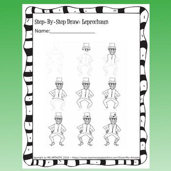 St. Patrick's Day Art Lesson, Leprechaun Art