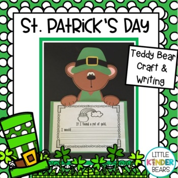 St. Patrick's Day Leprechaun Bear & Writing Activity