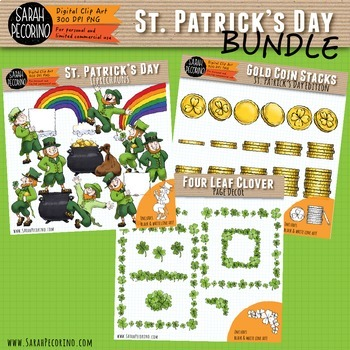 St. Patrick's Day Leprechaun Clip Art Bundle