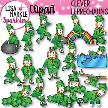 St Patrick's Day Leprechaun Clip Art