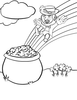 Free Printable Leprechaun Coloring Pages For Kids | 350x270