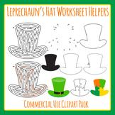St Patrick's Day Leprechaun Hat Worksheet Helper Clip Art Set Commercial Use