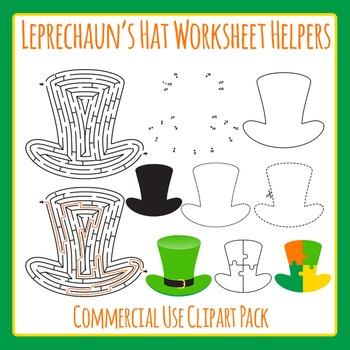 St Patrick's Day Leprechaun Hat Worksheet Helper Clip Art