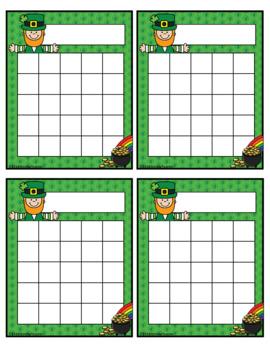 St. Patrick's Day Leprechaun Incentive Reward Charts