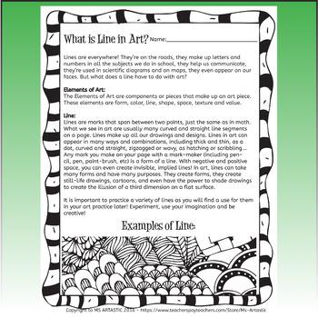 St. Patrick's Day Art Lesson, Leprechaun Line Art