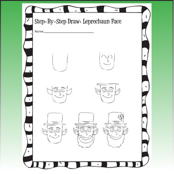 St. Patrick's Day Art Lesson, Leprechaun Line Art
