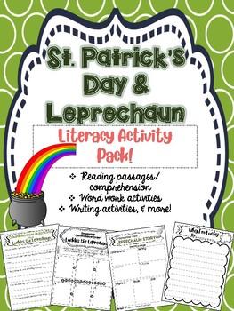 St. Patrick's Day Leprechaun Literacy Activity Pack