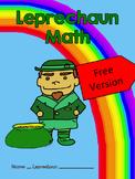 St. Patrick's Day Leprechaun Math - Free