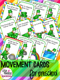 St Patrick's Day Leprechaun Movement Cards for Preschool and Brain Break
