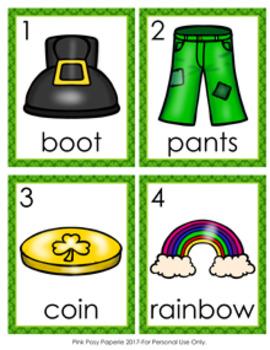 St Patrick's Day Leprechaun Nouns Write The Room Activity