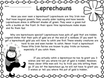 St. Patrick's Day & Leprechaun Packet