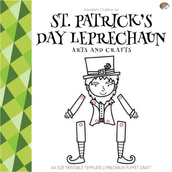 photograph about Leprechaun Feet Printable identified as Leprechaun Puppet Worksheets Schooling Components TpT