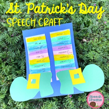 St. Patrick's Day Leprechaun Speech Therapy Craft {articulation language}