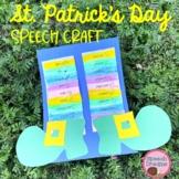 St. Patrick's Day Leprechaun Speech Therapy Craft {articulation language}